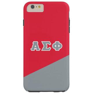 Alpha Sigma Phi   Greek Letters Tough iPhone 6 Plus Case