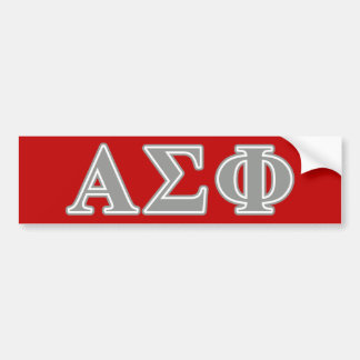 Alpha Sigma Phi Grey Letters Bumper Sticker
