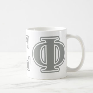 Alpha Sigma Phi Grey Letters Coffee Mug