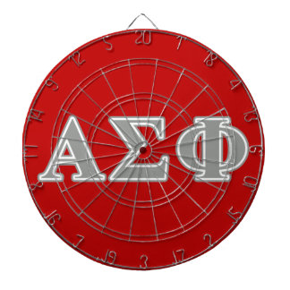 Alpha Sigma Phi Grey Letters Dart Boards