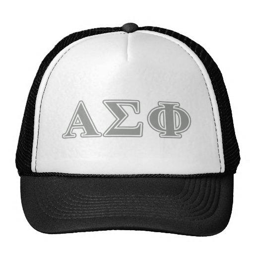 Alpha Sigma Phi Grey Letters Hat