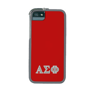 Alpha Sigma Phi Grey Letters iPhone 5/5S Case
