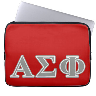 Alpha Sigma Phi Grey Letters Laptop Sleeve