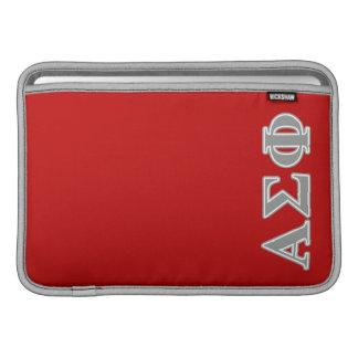 Alpha Sigma Phi Grey Letters MacBook Sleeve