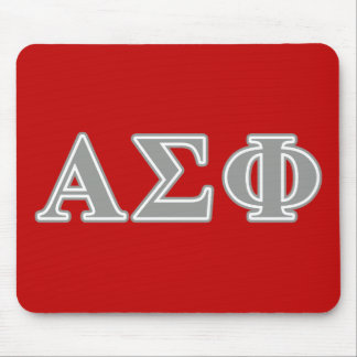 Alpha Sigma Phi Grey Letters Mouse Pad