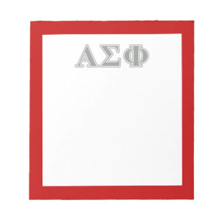 Alpha Sigma Phi Grey Letters Note Pads