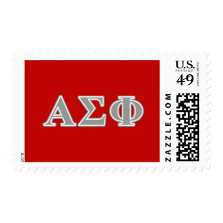 Alpha Sigma Phi Grey Letters Postage