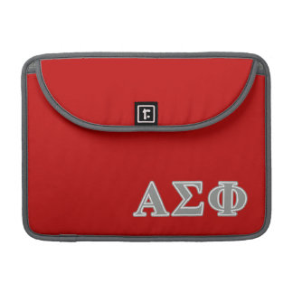 Alpha Sigma Phi Grey Letters Sleeve For MacBooks