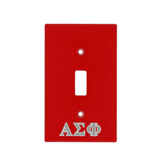 Alpha Sigma Phi Grey Letters Switch Plate Covers