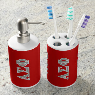 Alpha Sigma Phi Grey Letters Toothbrush Holder