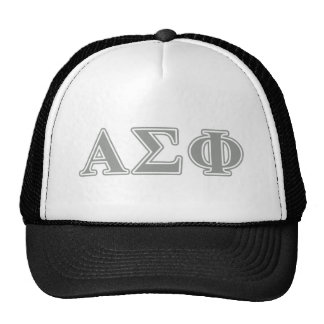 Alpha Sigma Phi Grey Letters Trucker Hat