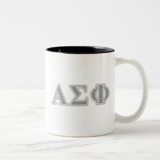 Alpha Sigma Phi Grey Letters Two-Tone Coffee Mug
