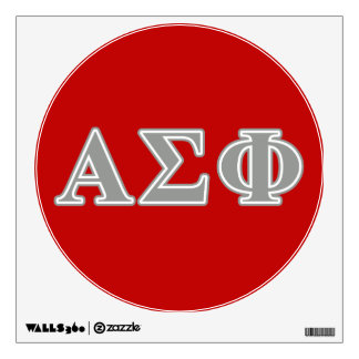 Alpha Sigma Phi Grey Letters Wall Decal