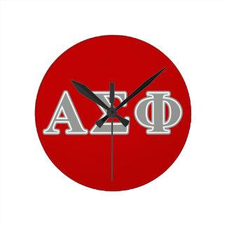 Alpha Sigma Phi Grey Letters Wallclock