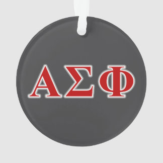 Alpha Sigma Phi Red and Grey Lettes