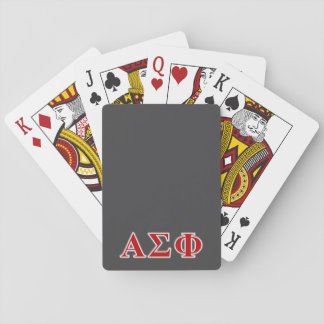 Alpha Sigma Phi Red and Grey Lettes Card Deck