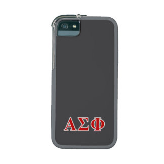 Alpha Sigma Phi Red and Grey Lettes iPhone 5/5S Cover