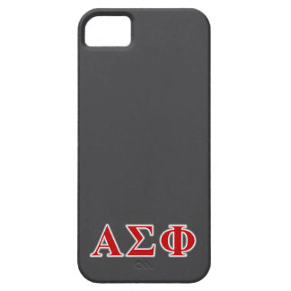 Alpha Sigma Phi Red and Grey Lettes iPhone 5 Cover