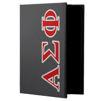 Alpha Sigma Phi Red and Grey Lettes iPad Air Case