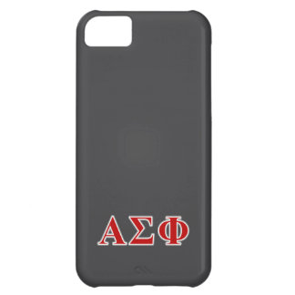 Alpha Sigma Phi Red and Grey Lettes iPhone 5C Covers