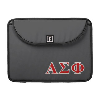 Alpha Sigma Phi Red and Grey Lettes Sleeve For MacBooks