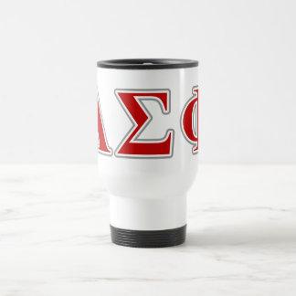 Alpha Sigma Phi Red and Grey Lettes Mug