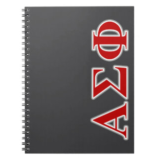 Alpha Sigma Phi Red and Grey Lettes Notebook