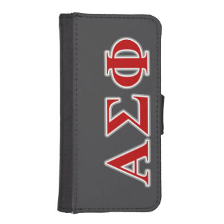 Alpha Sigma Phi Red and Grey Lettes iPhone 5 Wallet Case