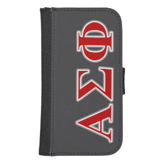 Alpha Sigma Phi Red and Grey Lettes Phone Wallet Case