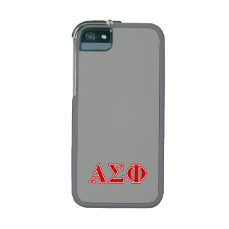Alpha Sigma Phi Red Letters iPhone 5 Cases