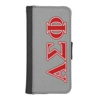 Alpha Sigma Phi Red Letters iPhone SE/5/5s Wallet Case