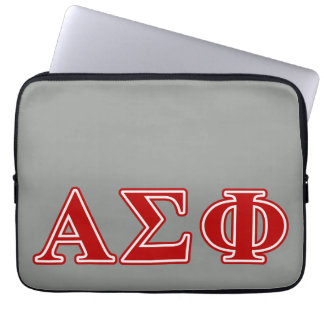 Alpha Sigma Phi Red Letters Laptop Sleeve