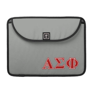 Alpha Sigma Phi Red Letters MacBook Pro Sleeves