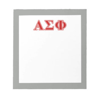 Alpha Sigma Phi Red Letters Memo Pad
