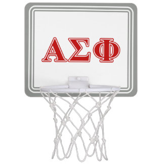 Alpha Sigma Phi Red Letters Mini Basketball Hoops