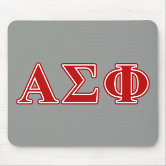 Alpha Sigma Phi Red Letters Mousepads