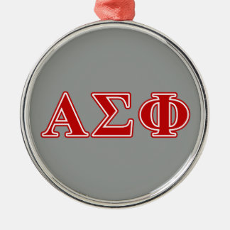 Alpha Sigma Phi Red Letters Ornament