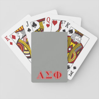 Alpha Sigma Phi Red Letters Poker Deck