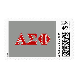 Alpha Sigma Phi Red Letters Postage Stamps