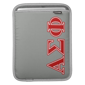 Alpha Sigma Phi Red Letters Sleeve For iPads