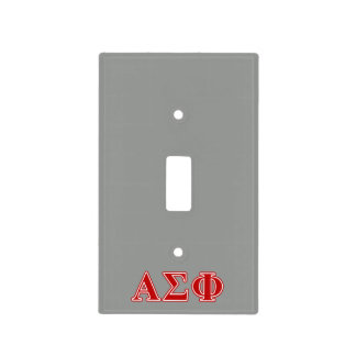 Alpha Sigma Phi Red Letters Switch Plate Cover
