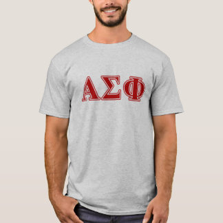Alpha Sigma Phi Red Letters T-Shirt