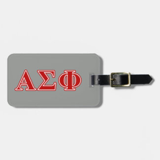 Alpha Sigma Phi Red Letters Travel Bag Tags