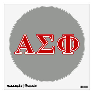 Alpha Sigma Phi Red Letters Wall Sticker