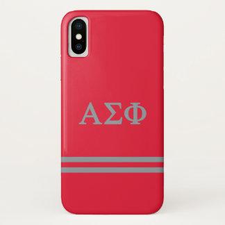 Alpha Sigma Phi   Sport Stripe iPhone X Case