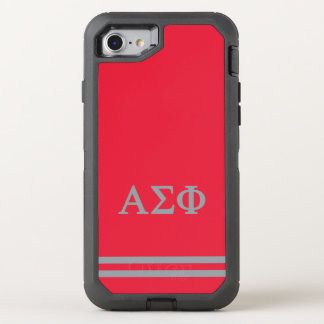 Alpha Sigma Phi | Sport Stripe OtterBox Defender iPhone 7 Case