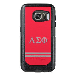 Alpha Sigma Phi | Sport Stripe OtterBox Samsung Galaxy S7 Case