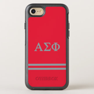 Alpha Sigma Phi | Sport Stripe OtterBox Symmetry iPhone 7 Case