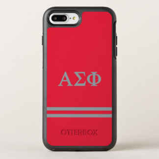 Alpha Sigma Phi | Sport Stripe OtterBox Symmetry iPhone 7 Plus Case