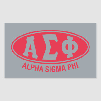 Alpha Sigma Phi | Vintage Rectangular Sticker